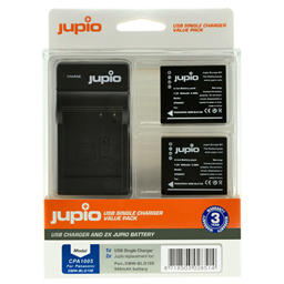 Afbeelding van Jupio Value Pack: 2x Battery DMW-BLG10 + USB Single Charger